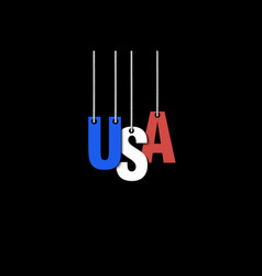 The word usa hang on the ropes vector