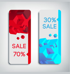 Two vertical sale banners vector