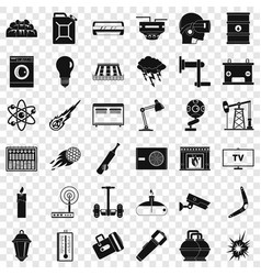 Use energy icons set simple style vector
