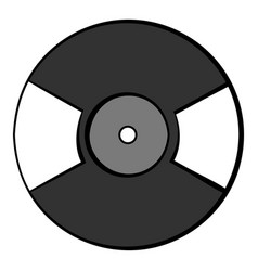 Vinyl record icon cartoon vector