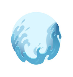 violent sea waves in circle streams water vector image
