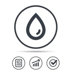Water drop icon natural aqua sign vector