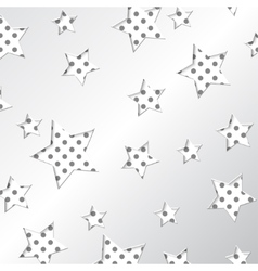 White pattern design with white stars on the polka vector image