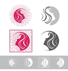 Woman face beauty logo vector