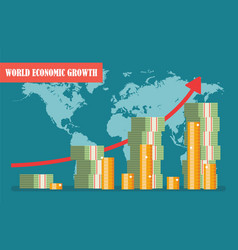 World economic growth concept in vector