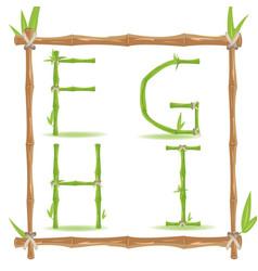 bamboo letter alphabet green set b vector image vector image