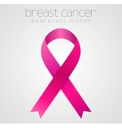 Breast cancer awareness pink ribbon tape design vector image