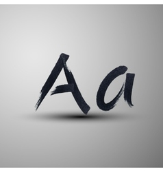 calligraphic hand-drawn marker or ink letter A vector image vector image
