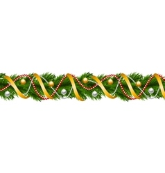 Christmas garland with baubles vector image