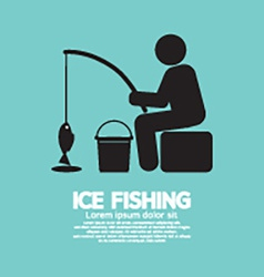 Ice Fishing Graphic Symbol vector image