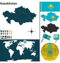 Kazakhstan map vector image vector image