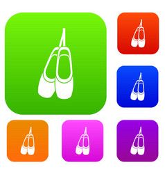 pointe shoes set collection vector image vector image