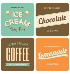 Retro style packaging design for foods and drinks vector