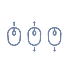 scroll up down with mouse icon vector image vector image