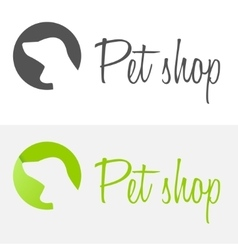 Set of vintage logo and logotype elements for pet vector image vector image
