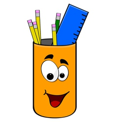 Can of pencils vector image vector image