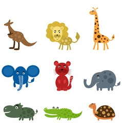 Cartoon film an animal vector image