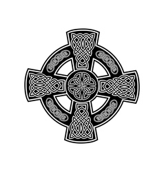 celtic cross 2 vector image vector image
