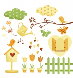 garden illustrations vector image vector image