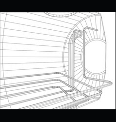 oil tank wire-frame eps10 format created vector image vector image