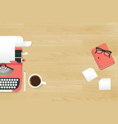 Realistic workplace vector image