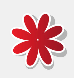 flower sign new year reddish vector image