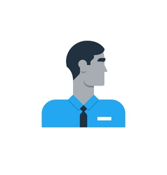 Man side view turned head security work sales vector