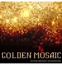 Shining abstract dark mosaic background vector image vector image