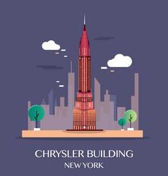 chrysler building new york vector image vector image