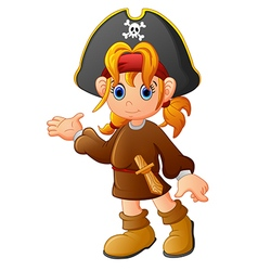 Girl Pirate cartoon vector image vector image