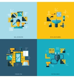 Home repair icons flat vector image vector image