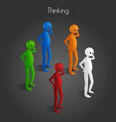 man thinking vector image vector image