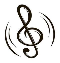 music key icon cartoon vector image