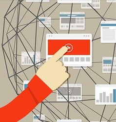 Using modern digital media environment vector image vector image