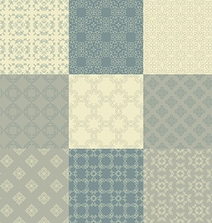 Vintage Pattern Collection vector image vector image
