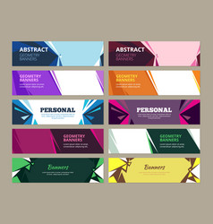 abstract banners geometric effects graphic vector image