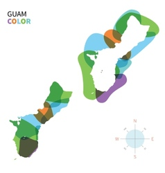 abstract color map guam vector image
