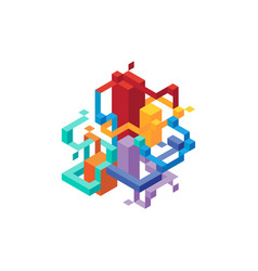 Abstract modern geometric isometric composition vector