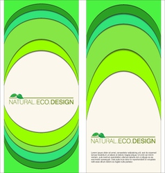 Abstract natural eco labels vector