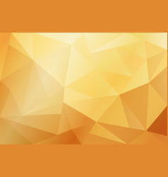 abstract yellow and gold geometric background vector image