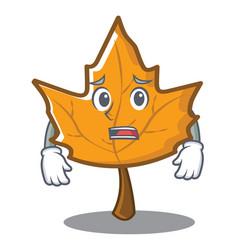 Afraid maple character cartoon style vector