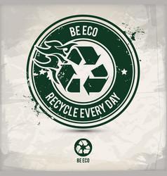 Alternative eco friendly stamp vector