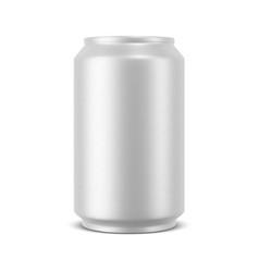 aluminum can mockup vector image
