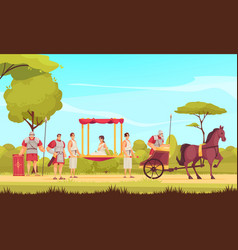 Ancient roman people vector