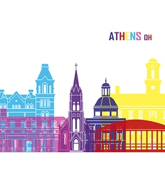 Athens OH skyline pop vector image