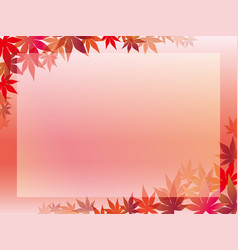 Autumn leaf frame 6 vector