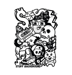 Background Graffiti Stickers vector