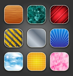 Backgrounds with texture for app icons vector