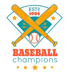 baseball retro poster with blue base vector image
