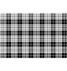 blackberry clan tartan diagonal black white vector image